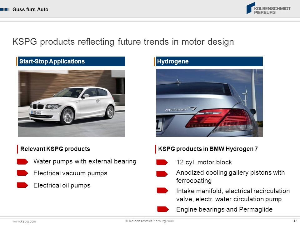 KSPG products reflecting future trends in motor design