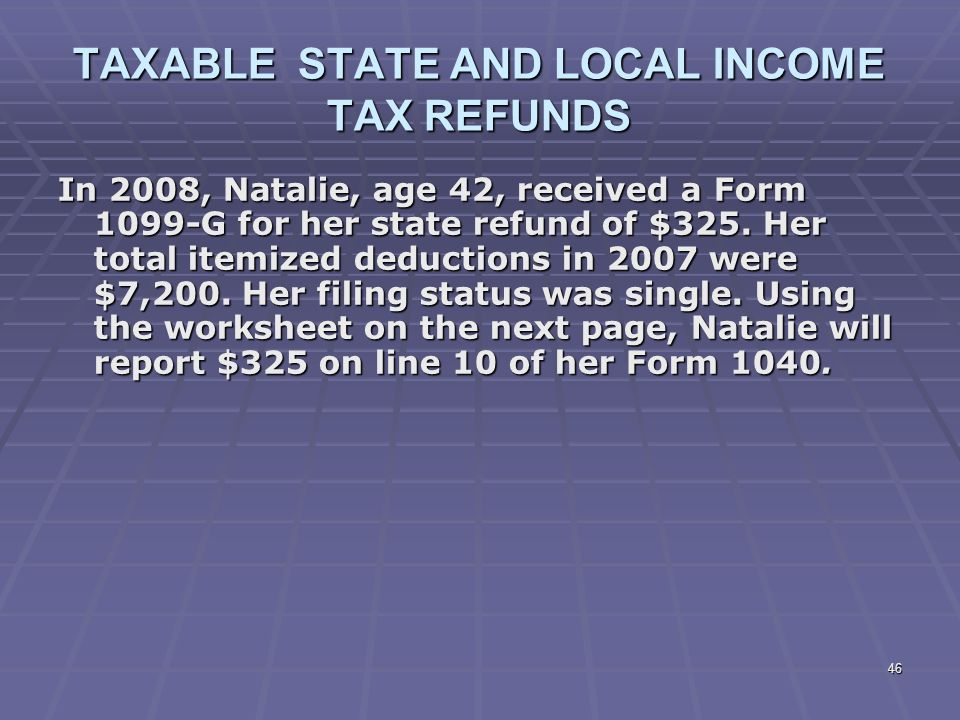 Liberty Tax Service Online Basic Income Tax Course Lesson 5 ppt – State Tax Refund Worksheet