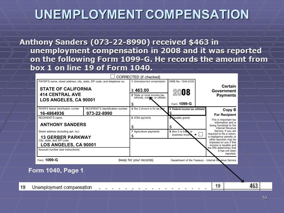 unemployment tax form 1099 g