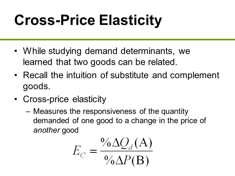 What Is Cross Elasticity Of Demand Definition And Meaning