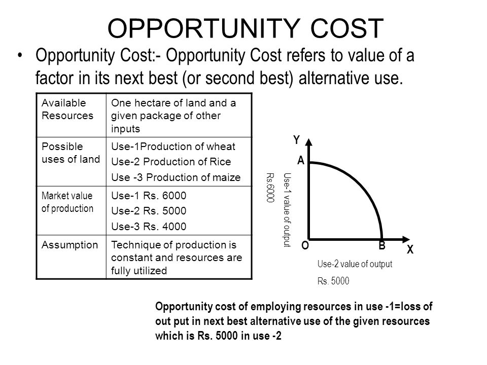 opportunity costs are other uses of resources essay On the other hand, non-monetary opportunity cost does not exhibit dollar value (hubbard, garnett & lewis, 2012) for instance, if the opportunity cost of a student attending lectures is foregone time with his/her pet.