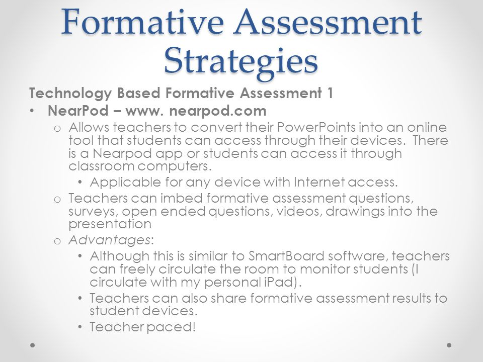 Incorporating Formative Assessment Strategies Into Lesson Planning