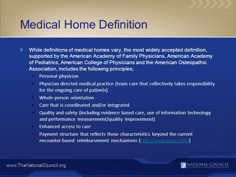 Medical Home Definition