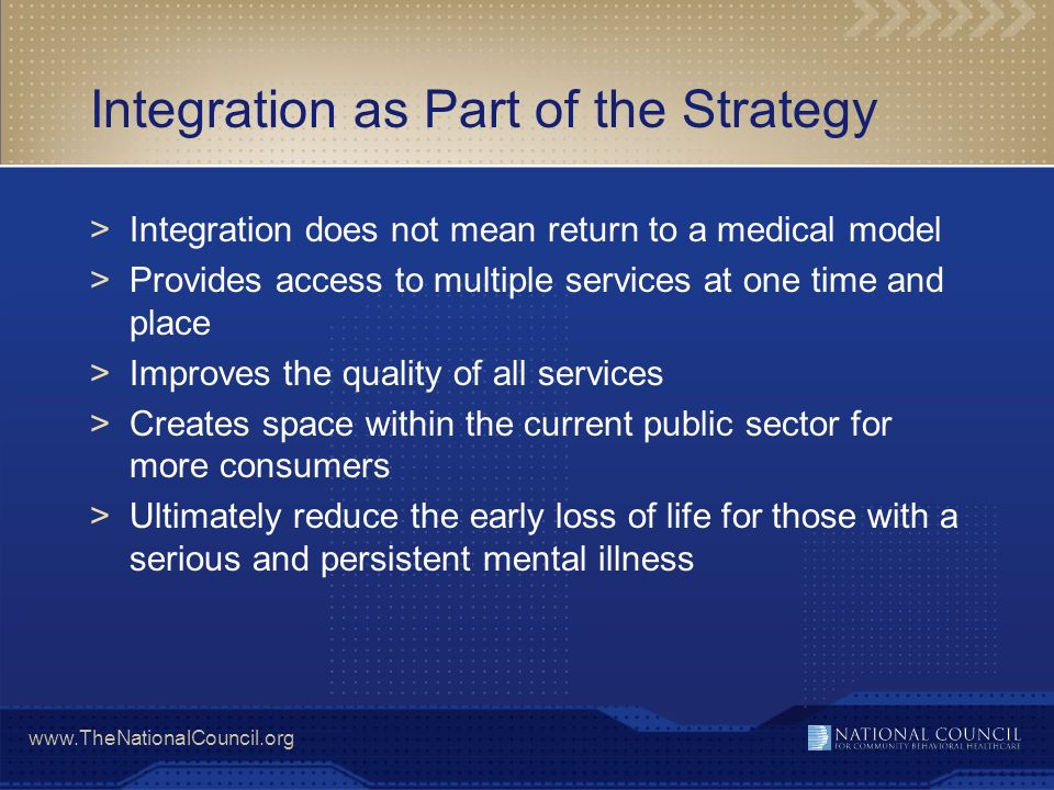 Integration as Part of the Strategy