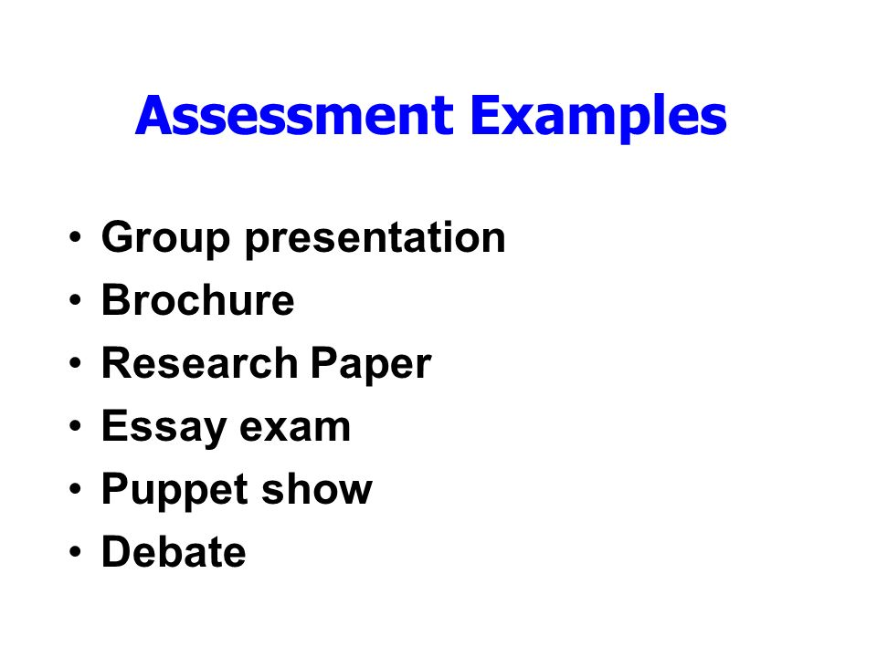 Group assessment essays