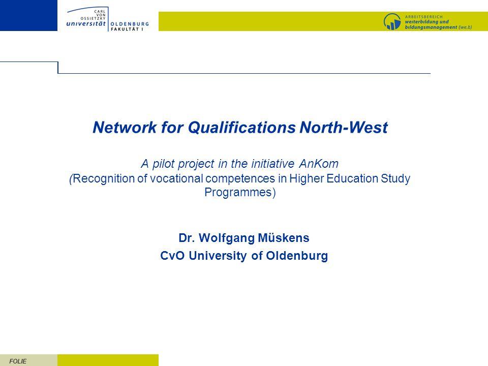 Dr. Wolfgang Müskens CvO University of Oldenburg