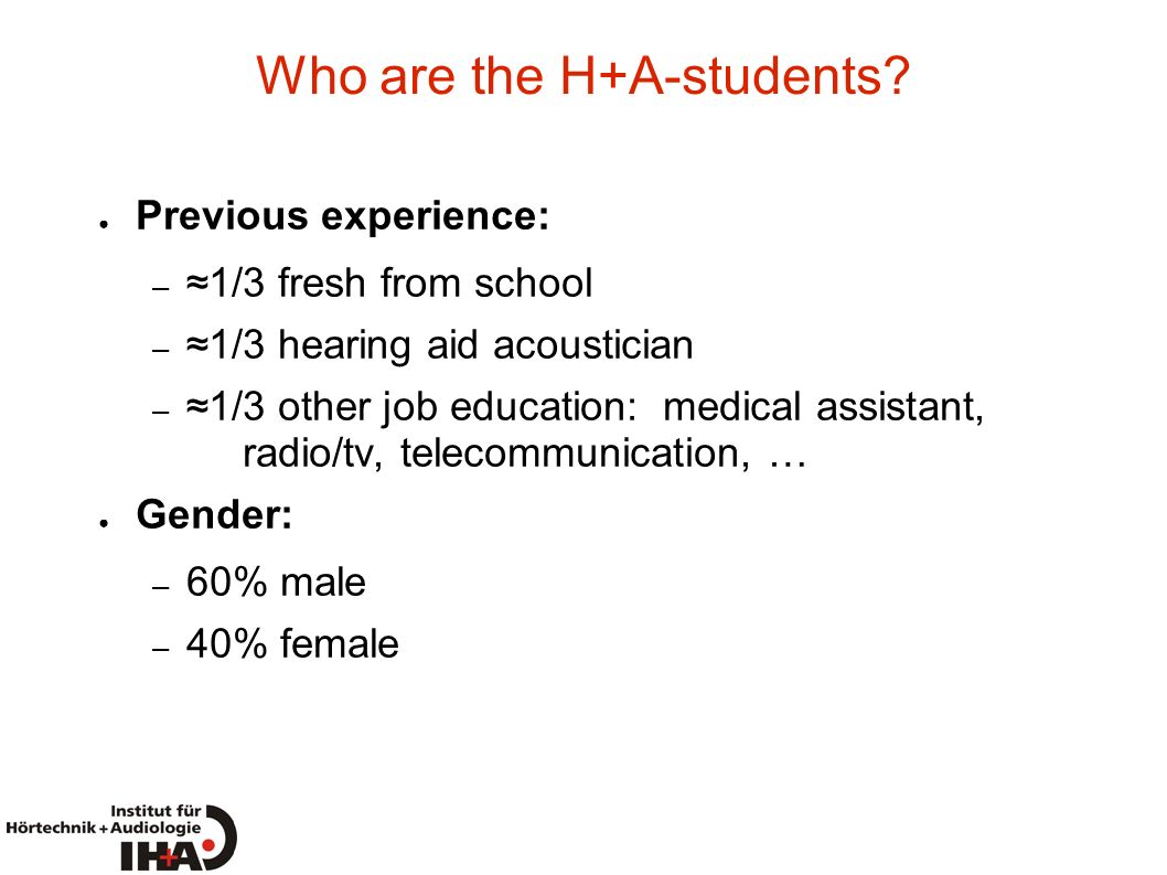 Who are the H+A-students
