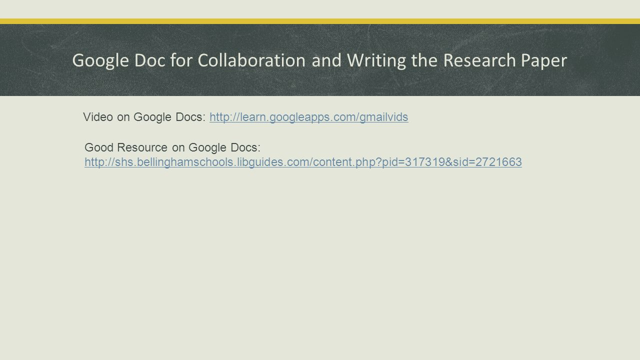 google docs research papers Resources/white papers  here are eight worthwhile additions that fill in the gaps and make google docs and sheets more powerful.