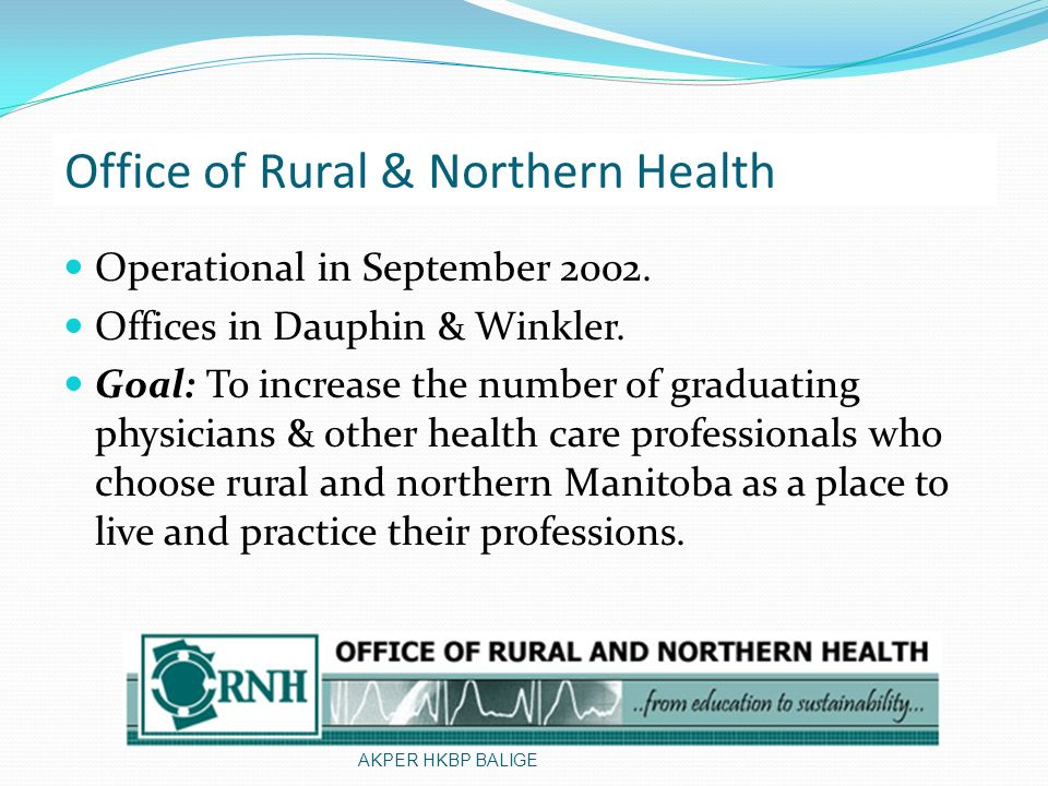 Office of Rural & Northern Health