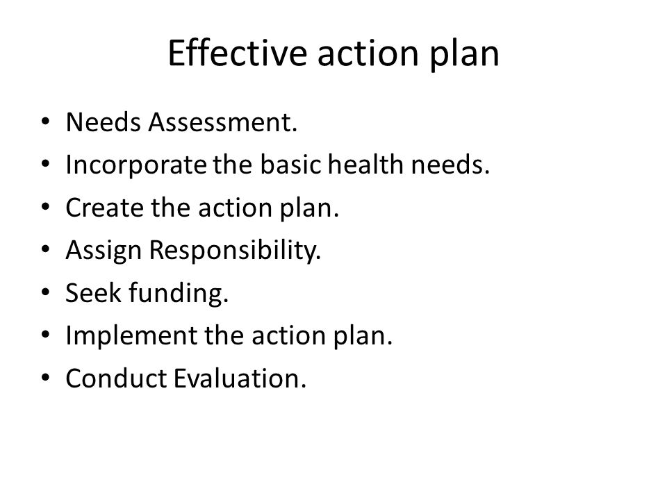 how to create an effective action plan