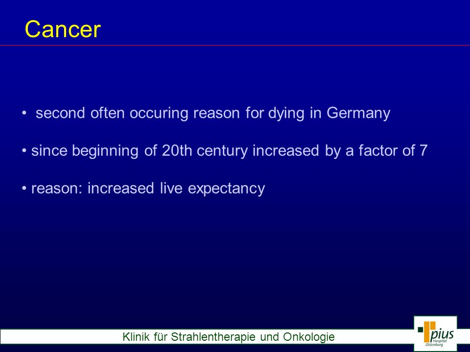 Cancer second often occuring reason for dying in Germany
