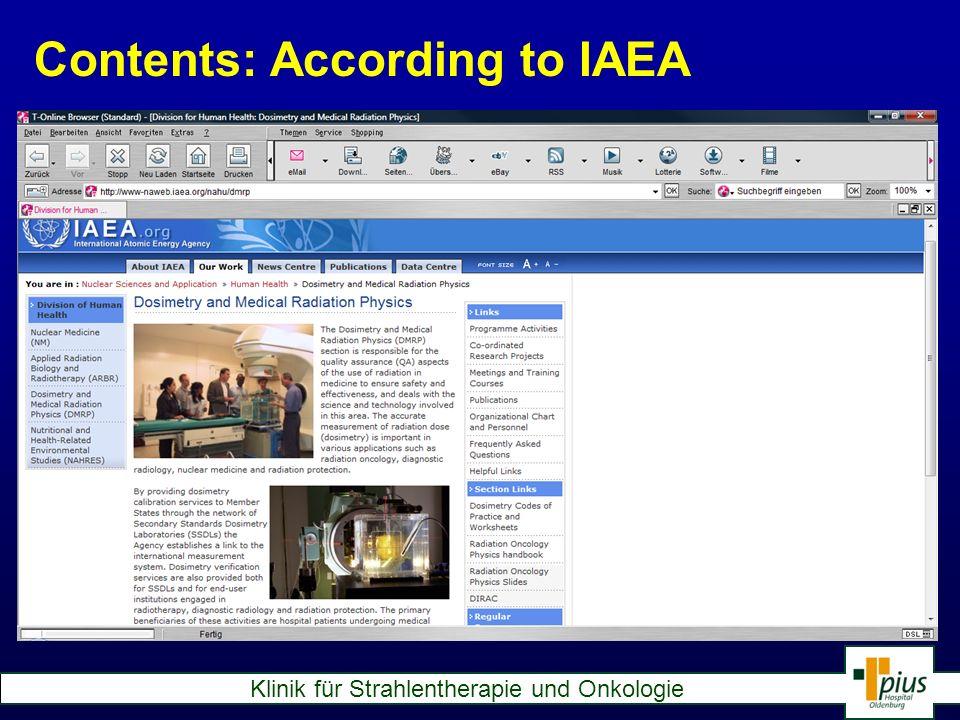 Contents: According to IAEA