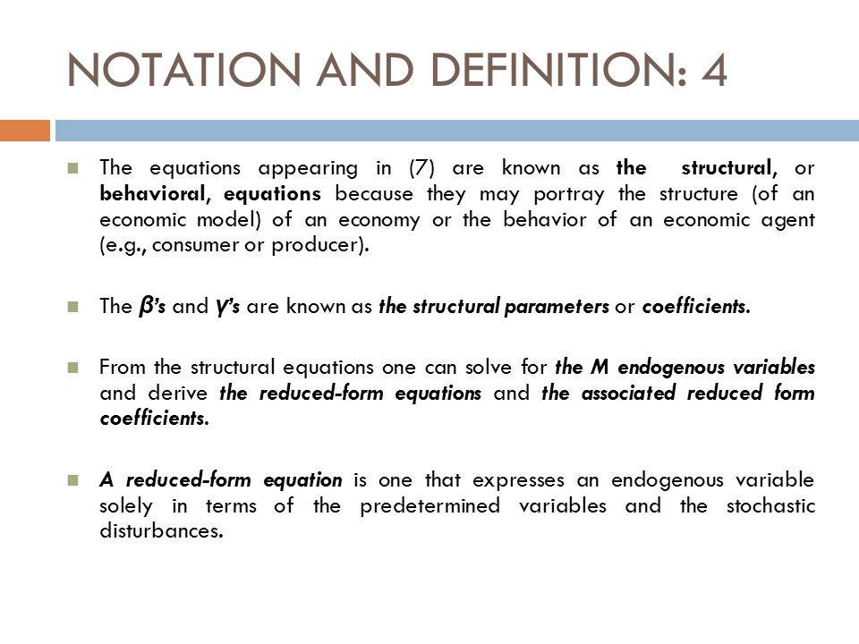 SIMULTANEOUS EQUATION MODELS - ppt video online download