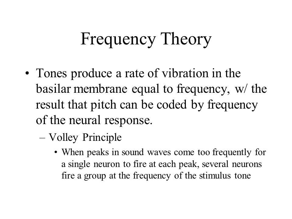 Frequency Theory