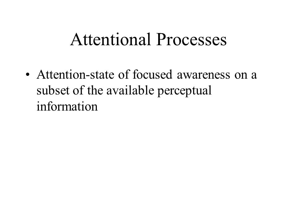 Attentional Processes