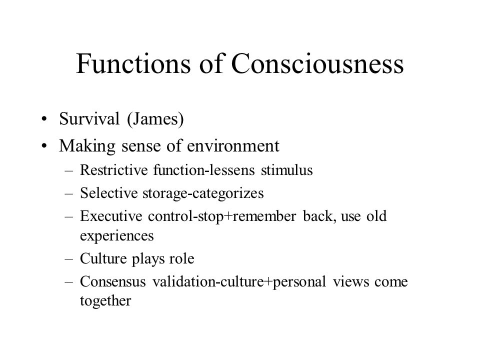 Functions of Consciousness