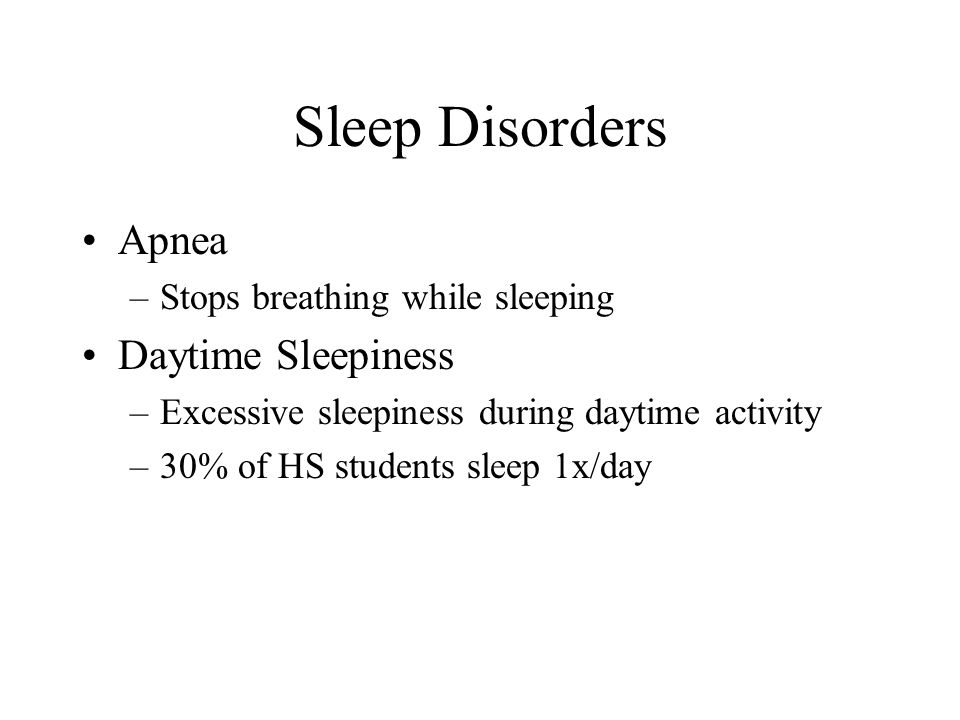 Sleep Disorders Apnea Daytime Sleepiness