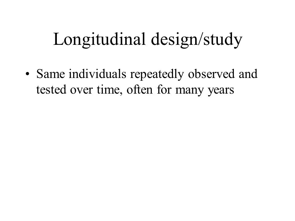 Longitudinal design/study