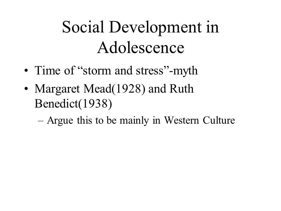 Social Development in Adolescence