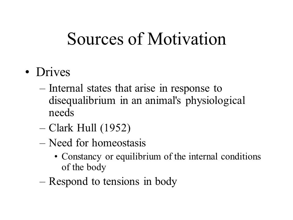 Sources of Motivation Drives
