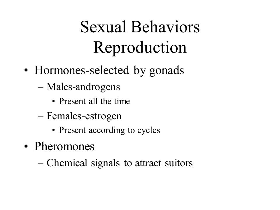 Sexual Behaviors Reproduction