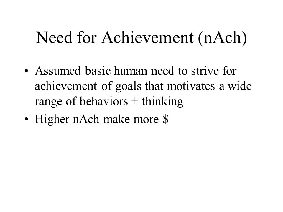 Need for Achievement (nAch)