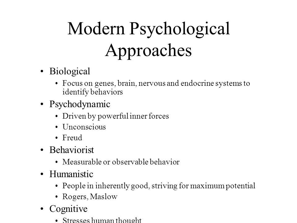 Modern Psychological Approaches