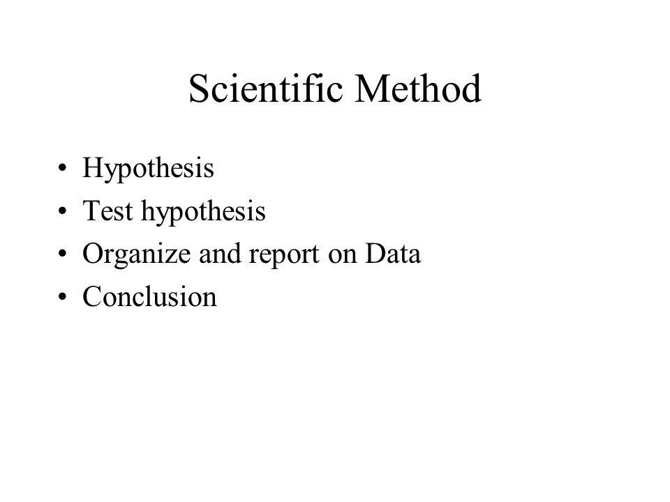 Scientific Method Hypothesis Test hypothesis