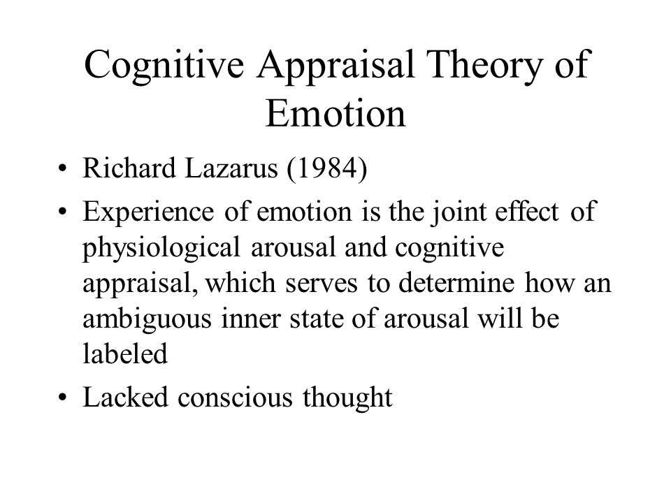 Cognitive Appraisal Theory of Emotion