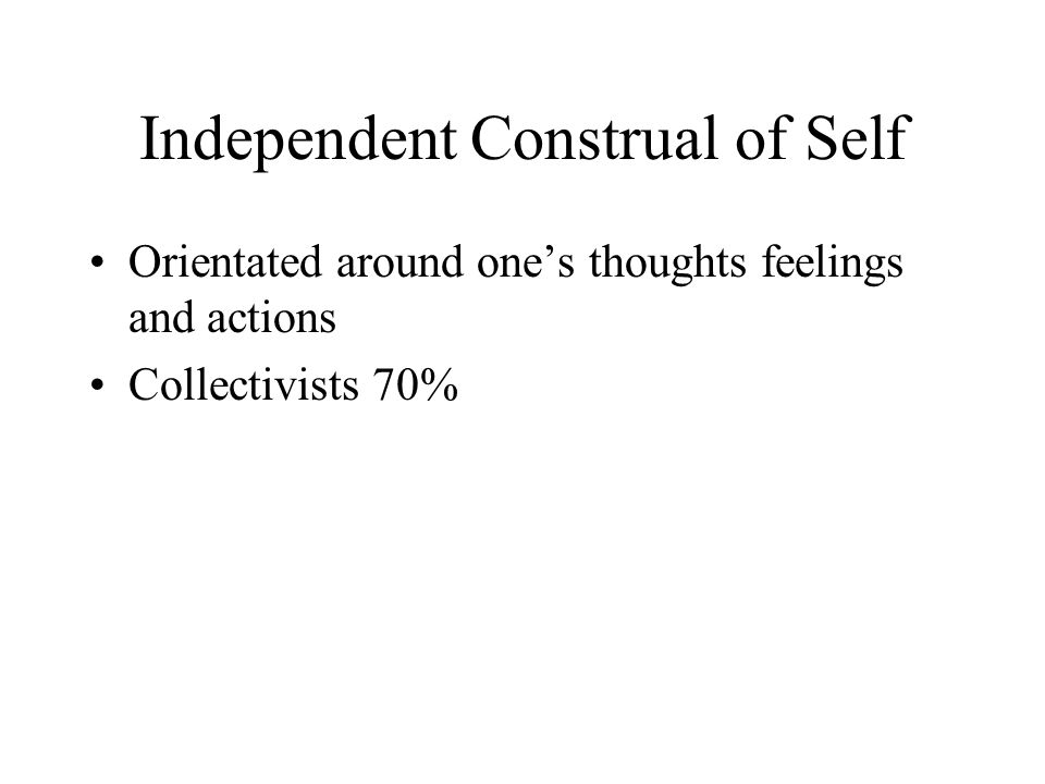 Independent Construal of Self