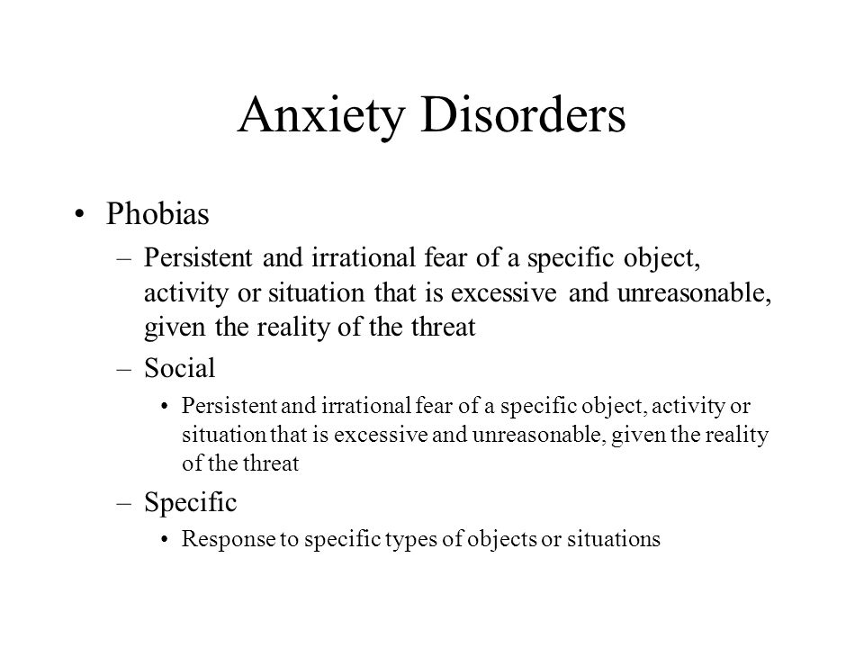 Anxiety Disorders Phobias