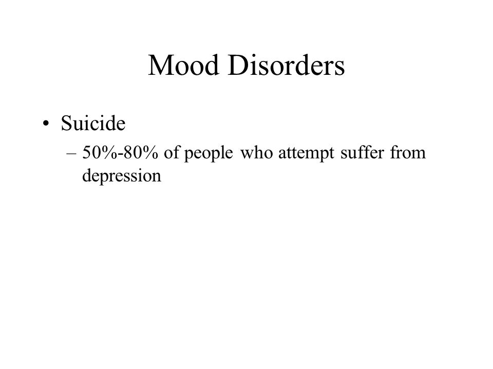 Mood Disorders Suicide