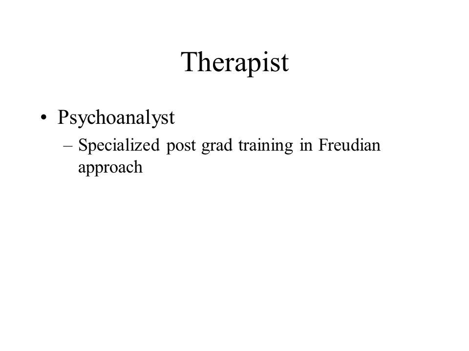 Therapist Psychoanalyst