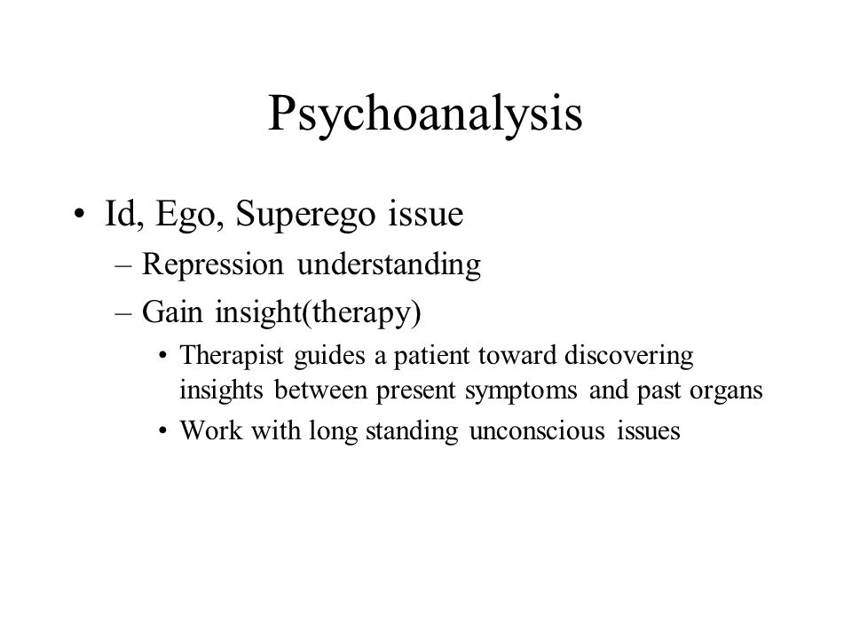 Psychoanalysis Id, Ego, Superego issue Repression understanding