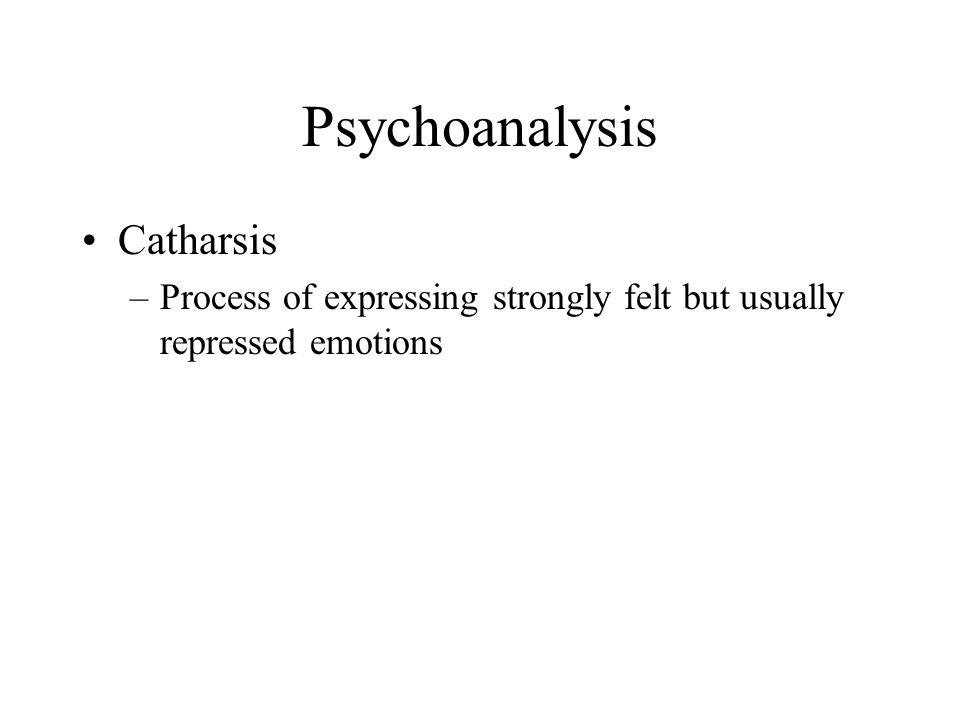 Psychoanalysis Catharsis