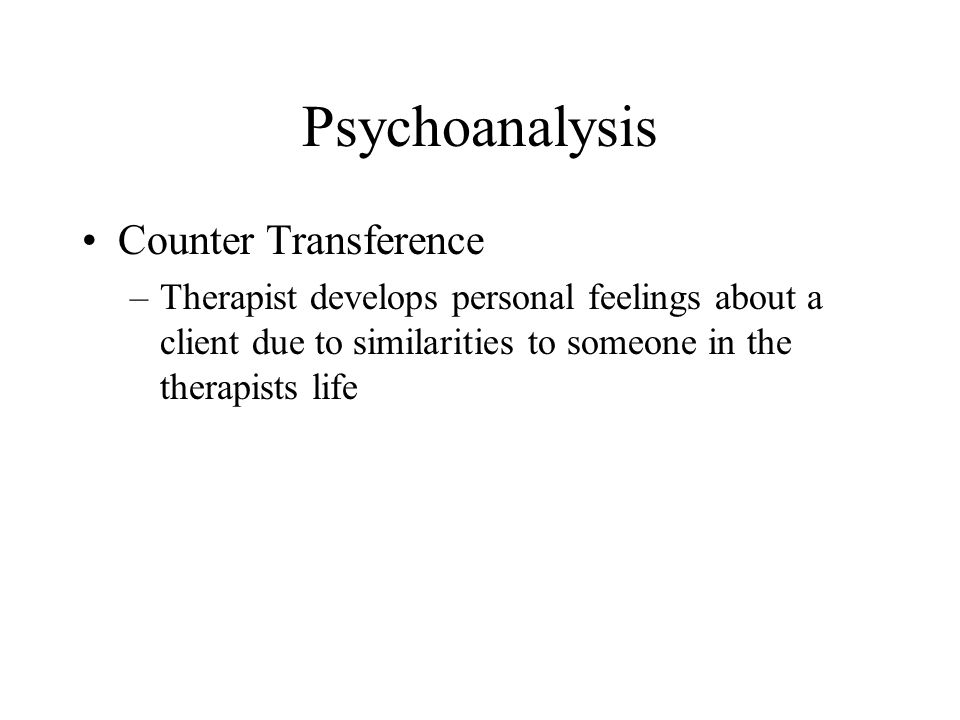 Psychoanalysis Counter Transference