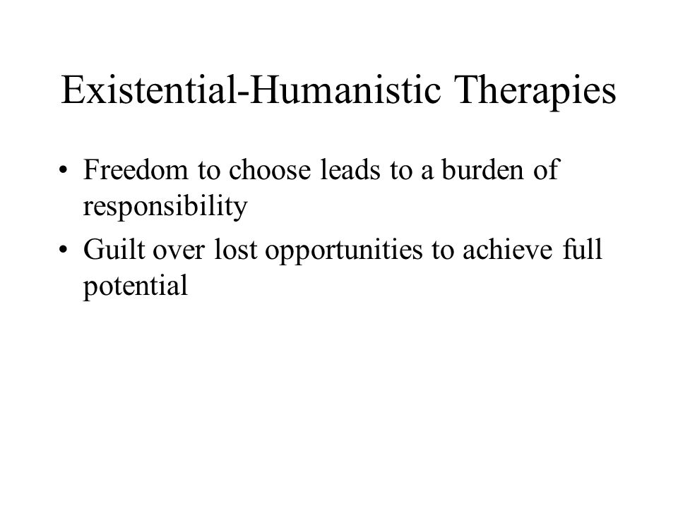 Existential-Humanistic Therapies