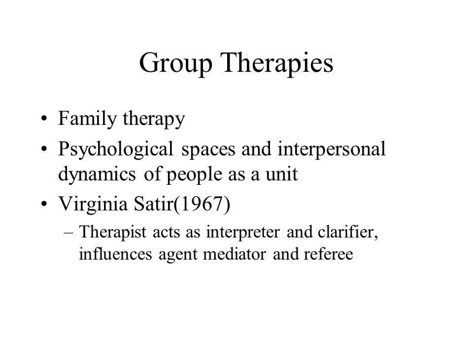 Group Therapies Family therapy