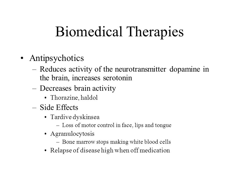 Biomedical Therapies Antipsychotics