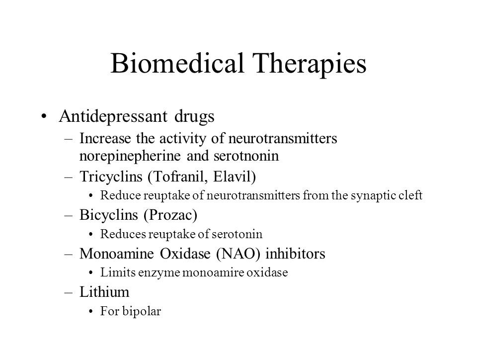 Biomedical Therapies Antidepressant drugs