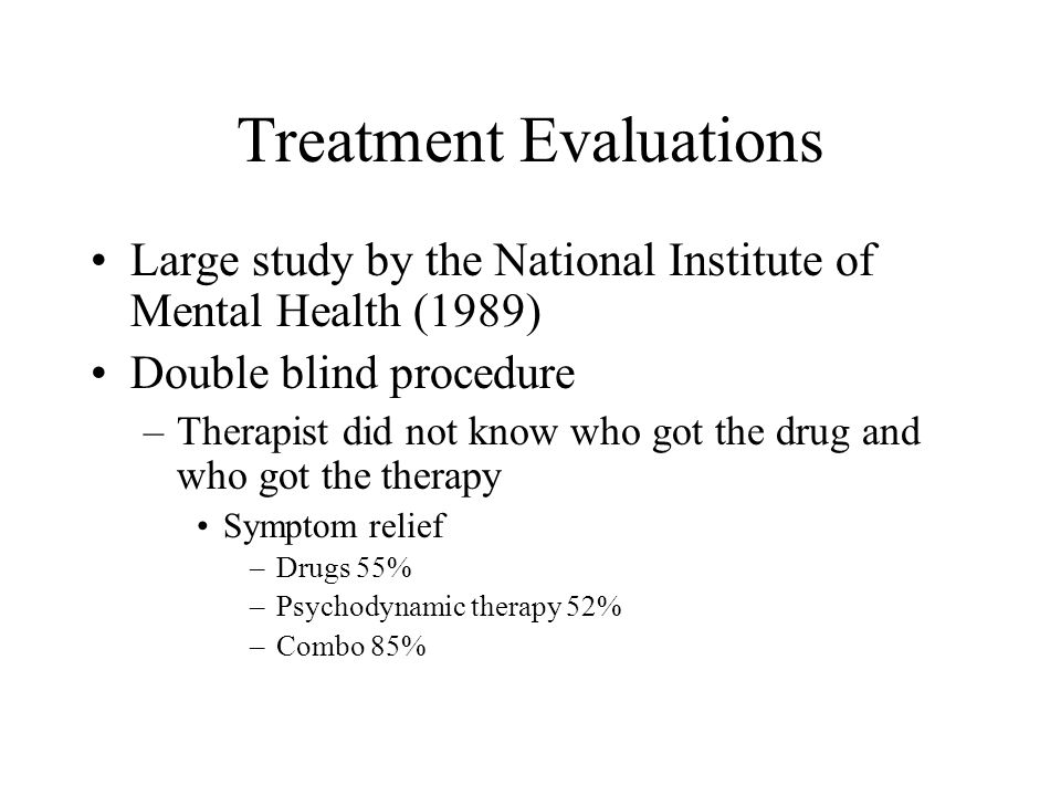 Treatment Evaluations