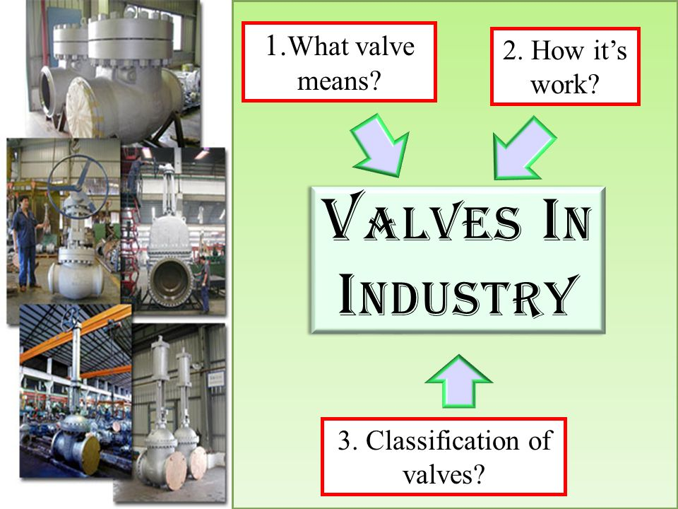 3. Classification of valves