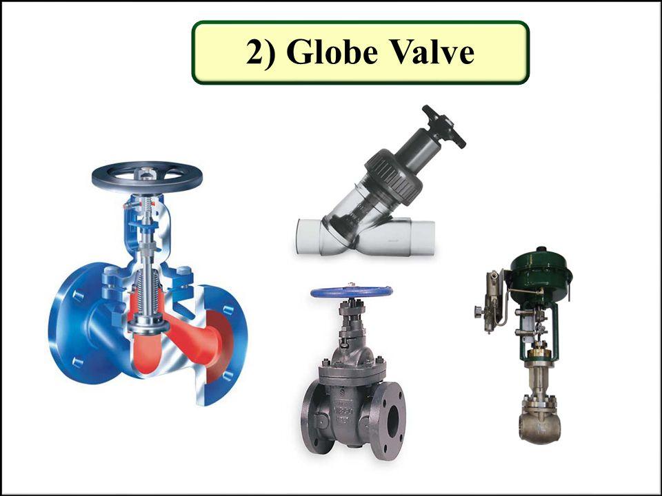 2) Globe Valve globe valves, butterfly valves, ball valves,