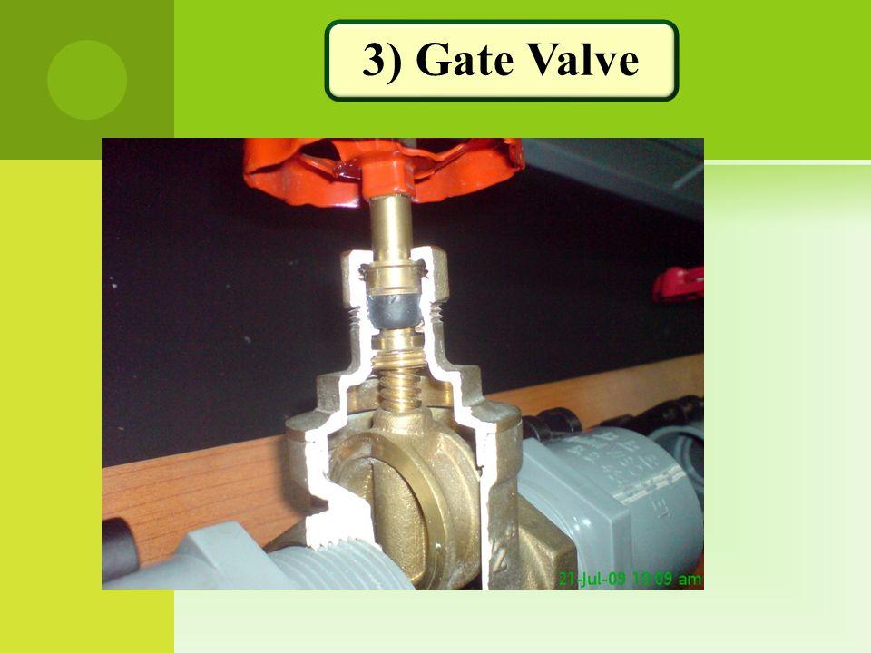 3) Gate Valve