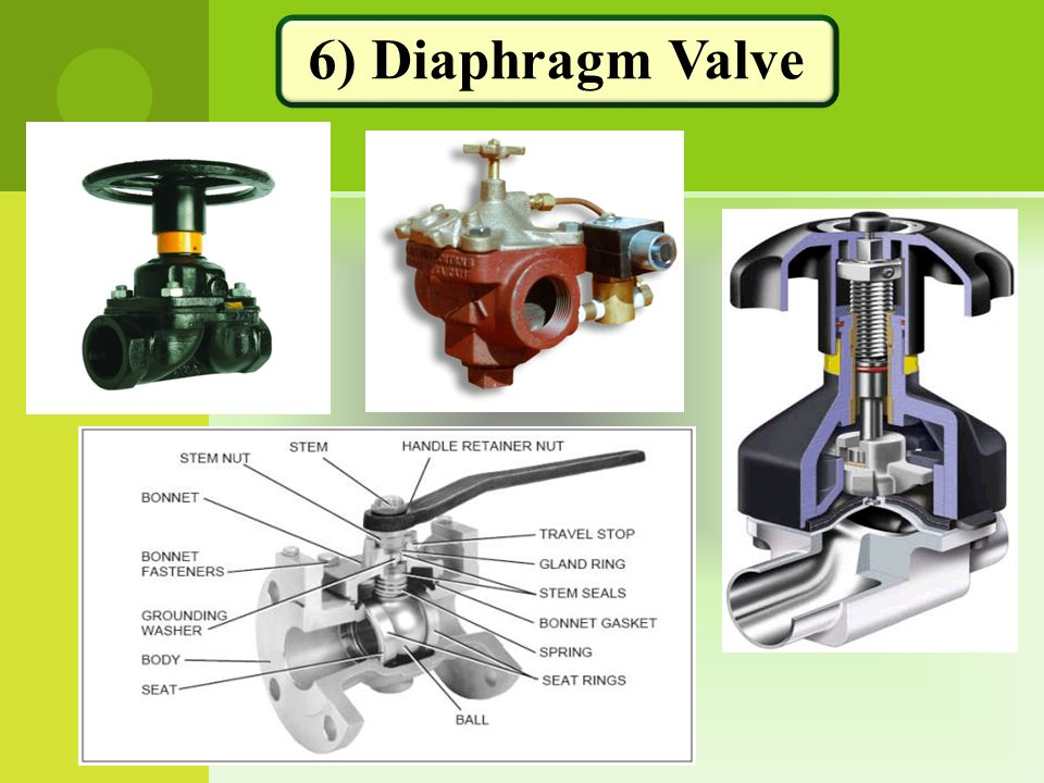 6) Diaphragm Valve