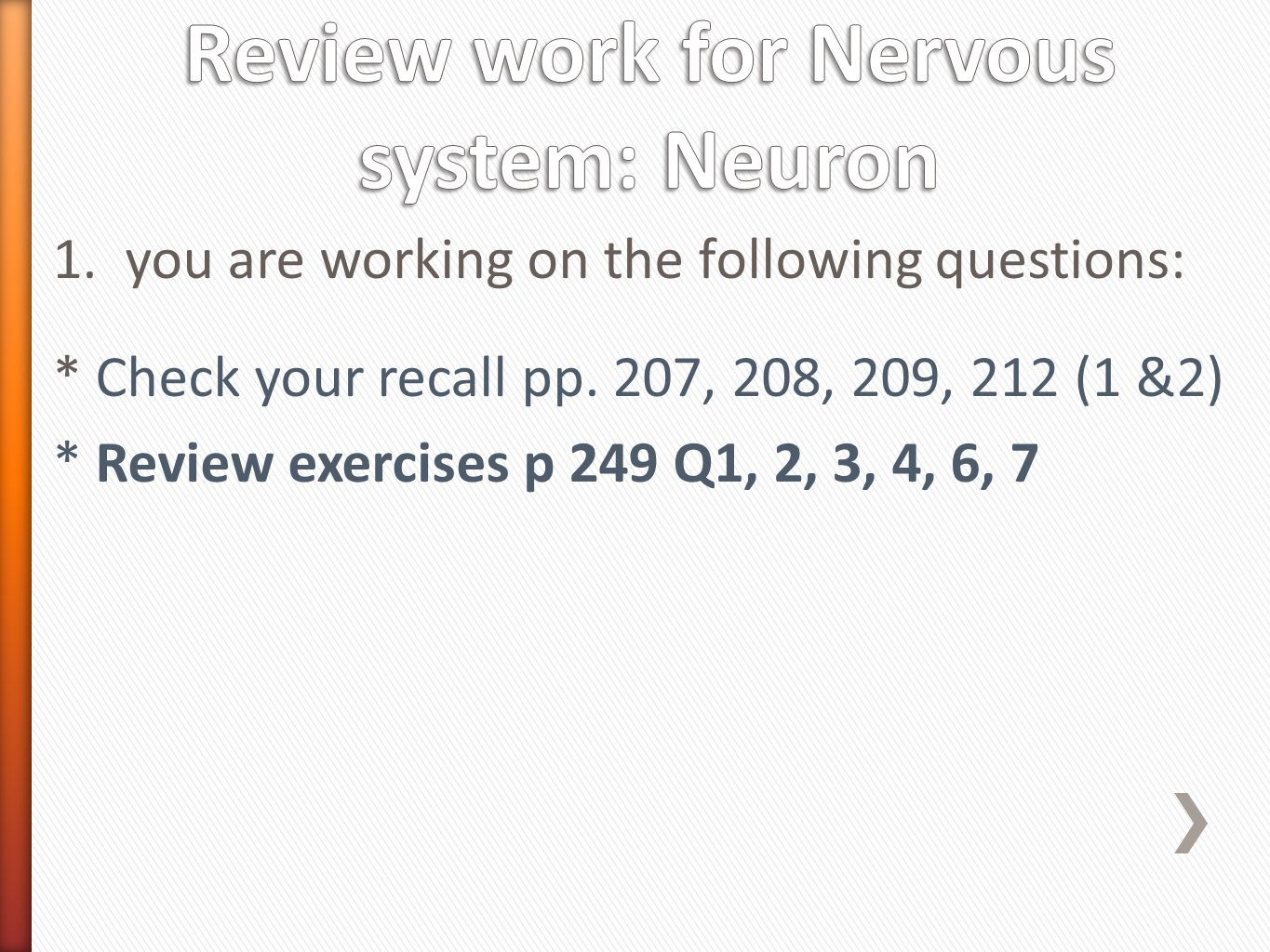 100+ [ Chapter 7 The Nervous System Worksheet ] | Neuropeptide Y ...