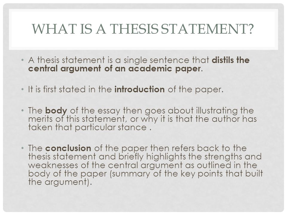 approaching a question research ppt video online  what is a thesis statement