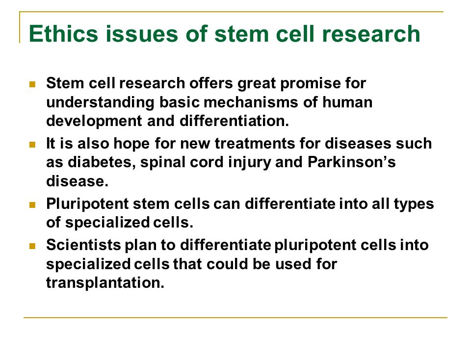 The Stem Cell Debate: Is it Over?