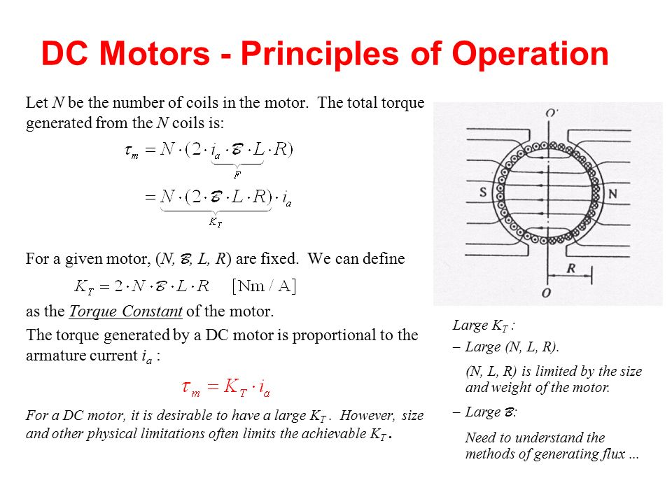dc motor principle of operation Understand the operation and characteristics of shunt-connected dc motors,  series-connected dc motors, and  principles of dc machines study of  the.