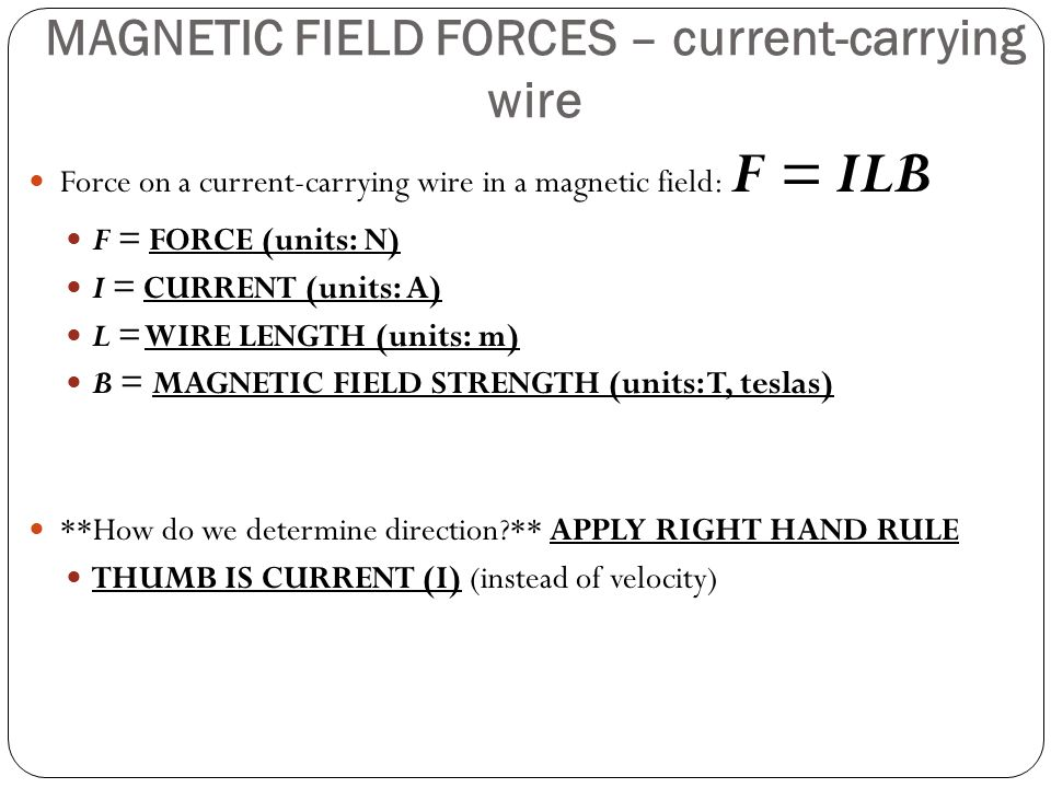 Magnetic field strength determination on a College paper